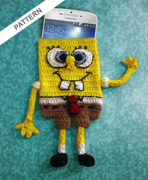 Spongebob Squarepants Cell Phone Case Crochet Pattern ...