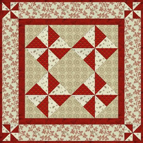 Country Lane Quilts - Free Patterns for Small Quilting Projects such as doll quilts, table mats, etc.