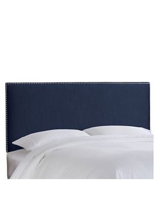 57% OFF Skyline Pewter Nail Button Headboard (Navy)