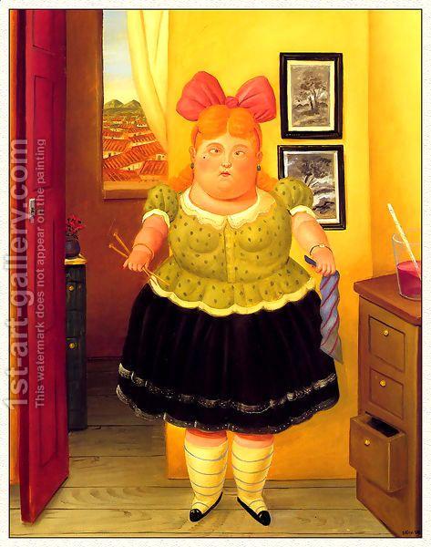 Fernando Botero:The Seamstress 1990
