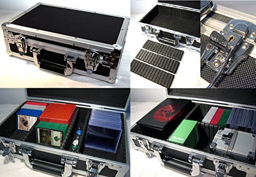 nice Metal Case-U Storage for Trading Cards TCG Ultra Pro Deck Protector Sleeve Deck Box MTG Magic the Gathering YGO Yugioh Match Attax Board Games Sports Wow Pokemon Perfect for storing all kinds of trading cards, TCG, sports cards, card games and board games. Product Features Aluminium Storage Case for TCG, Tradi…