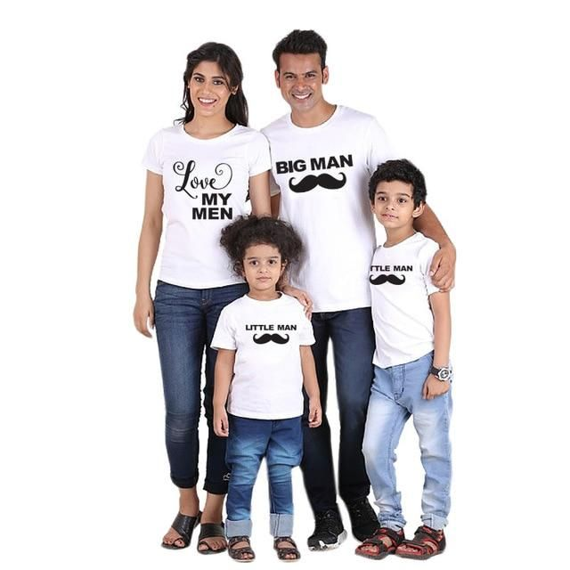 US Family Clothes Matching Dad Mom Kids Baby T Shirts Blouse Short Sleeves Tops