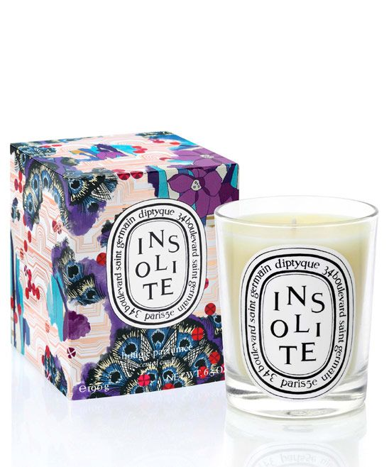 You can't go wrong with this one. It's exclusive and limited edition. Created in collaboration between Diptyque and Liberty, Insolite is a rich blend of warm and cold spices, leaves and petals, zests and peels.