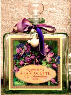 vintage violet perfume bottle