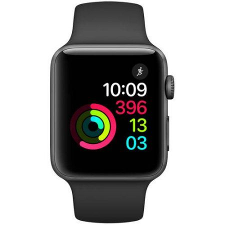 Buy Apple Watch Series 2, 42mm Aluminum Case with Black Band at Walmart.com