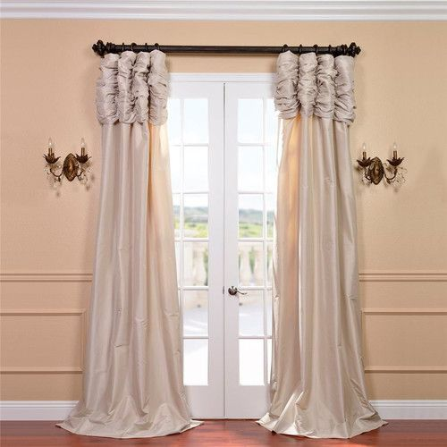 Found it at Joss & Main - Bayley Ruched Semi-Opaque Single Curtain Panel