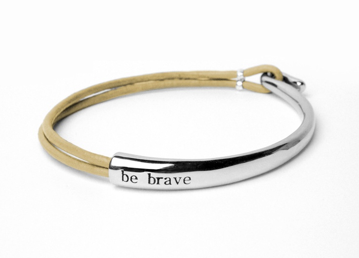 Bravelets™ bracelets are made to help you be brave during tough times. Wear it proudly for yourself or for a loved one! $35