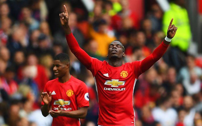 Hämta bilder Paul Pogba, fotbollsspelare, Premier League, MU, Manchester United