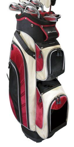 Offering plenty of room these mens black ice edition full size golf cart bags by Orlimar are sturdy but light with a 14 way top and a solid internal shell