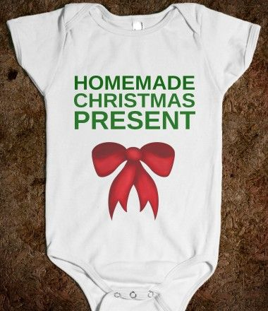 HOMEMADE CHRISTMAS PRESENT BABY one-piece @Jackie Gregory Janelle Designs  for baby Ace