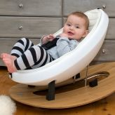 rokii rocking egg chair - Image rokii rocking egg with 6 month old. Christmas in #htfstyle