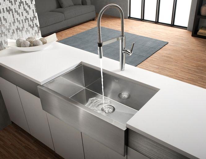 Precision U Maxi Apron Single Kitchen Sink With Apron   Blanco
