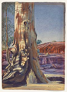 Albert NAMATJIRA, Gum tree and sandhill