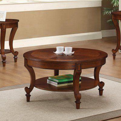 Coaster Furniture Round Coffee Table - Warm Brown - 704408