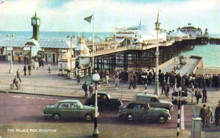Palace Pier, Brighton. Carol-Anne and Jeanette waited for the boys here while they looked for B & B.