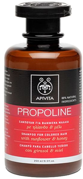 Apivita Propoline Σαμπουάν Για Βαμμένα Μαλλιά Με Μέλι & Ηλίανθο 250ml. Μάθετε περισσότερα ΕΔΩ: https://www.pharm24.gr/index.php?main_page=product_info&products_id=3670