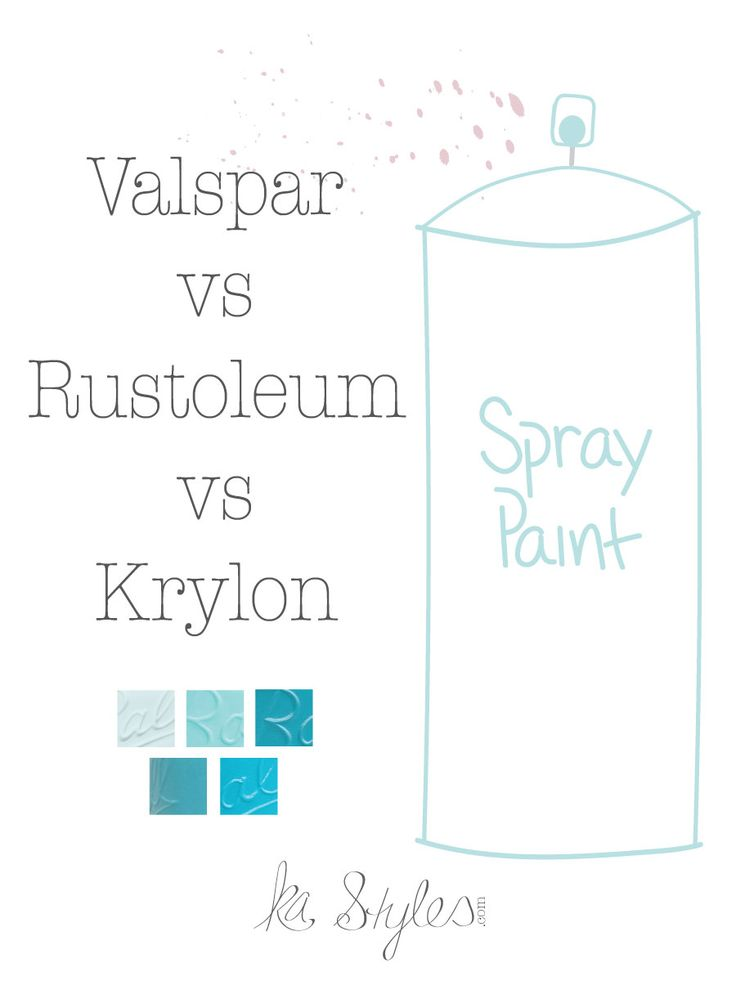 Rust-Oleum vs Valspar vs Krylon Color Comparison.You can spray paint almost anything! My take on brands from my experience using 300+ cans of spray paint.
