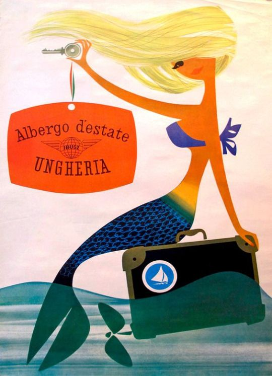 1960s Hungarian travel poster.