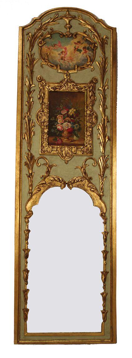 Period Louis XV Trumeau Mirror