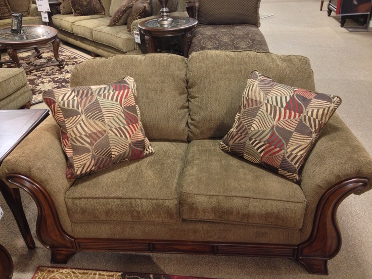 montgomery mocha loveseat at ashley furniture in tricities traditional classic pinterest