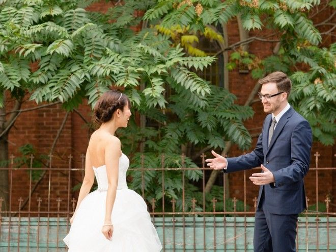 Beautiful first reaction from the groom in this Toronto wedding featured on EventSource.  www.eventsbywhim.ca