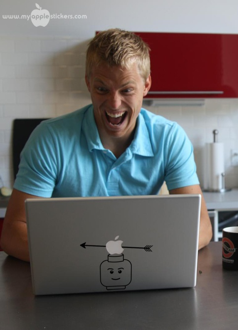 myapplestickers.com - Lego Man - Stickers & Decals for Mac computers or iPad