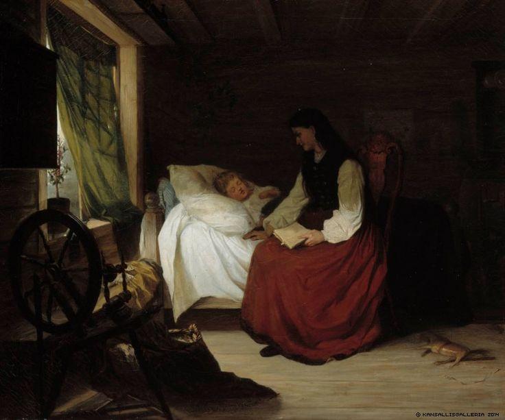Alexandra Frosterus-Såltin (Finnish, 1837-1916)  Mother with Her Sleeping Child - Finland, book