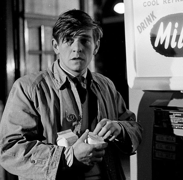 Tom Courtenay in Billy Liar (1963) co-starring JULIE CHRISTIE. Directed by John Schlesinger.