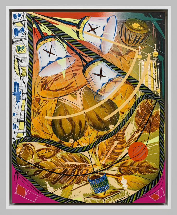 Bernier/Eliades Gallery | Lari Pittman |Untitled #6, 2013 |Cel-vinyl, spray enamel on prepared panel|Framed: 54 x 44 cm |Photo by Fredric Nilsen
