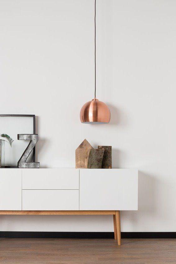 Zuiver Lampa Wisząca Big Glow Miedziana 5300034 : Lampy wiszące metalowe : Sklep internetowy Elektromag Lighting #copper #lamp