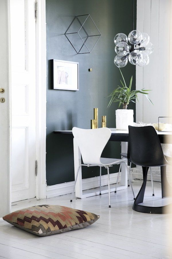 my scandinavian home: A charming norwegian home in green, grey and cognac