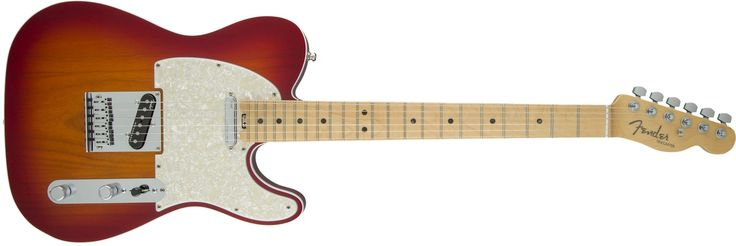 Fender American Elite Telecaster - Aged Cherry Burst. Hum-Free classic Tele tones provided by the all-new fourth-generation Noiseless single-coil Telecaster pickups. Achieve a wide range of tonal versatility that add a warm thick girth or the expected single coil shimmer from the S-1 switch located on the volume control. Play in comfort anywhere on the neck via the compound profile neck; redesigned contoured neck heel. Enjoy increased tuning stability and proper string angle via the…
