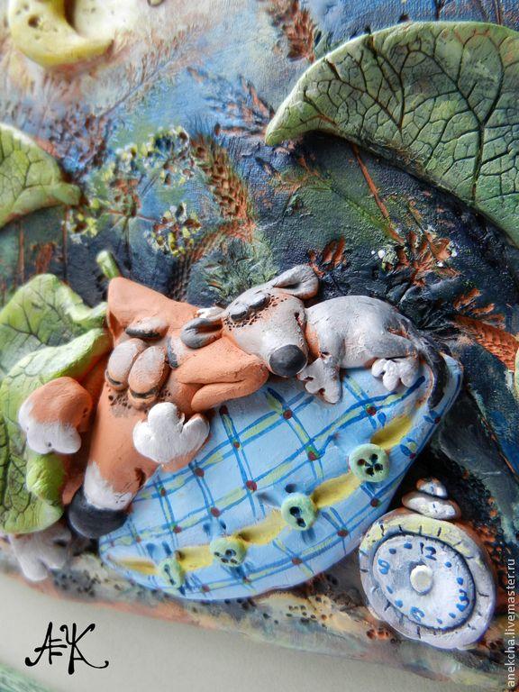 """""""Не проспать бы..."""", керамическое панно - Анна Герман  Фьюзинг (Anekcha) - Ярмарка Мастеров http://www.livemaster.ru/item/7624649-kartiny-panno-ne-prospat-by-keramicheskoe"""