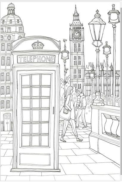 london phone booth colouring pagescoloring booksadult