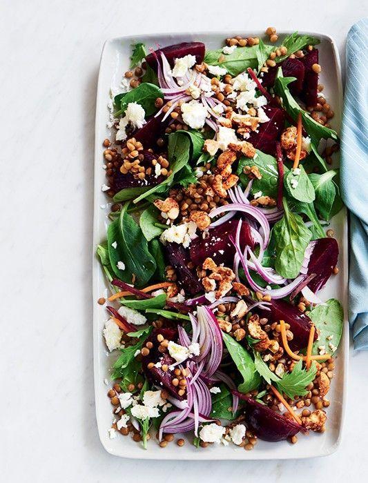 Baby Beetroot, Feta & Lentil Salad