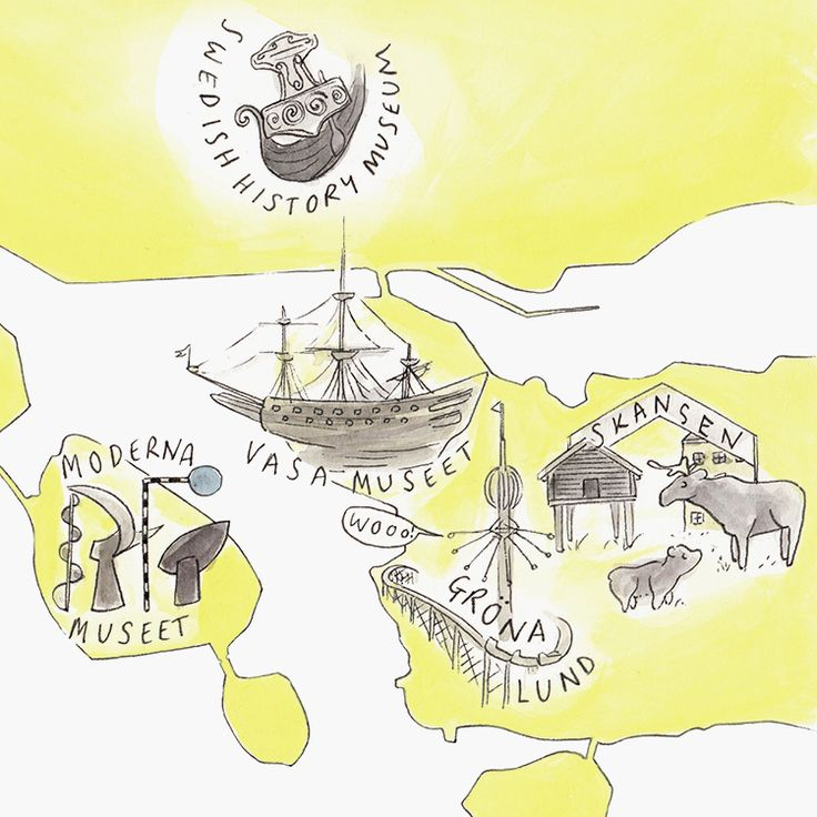 Stockholm Illustrated Map