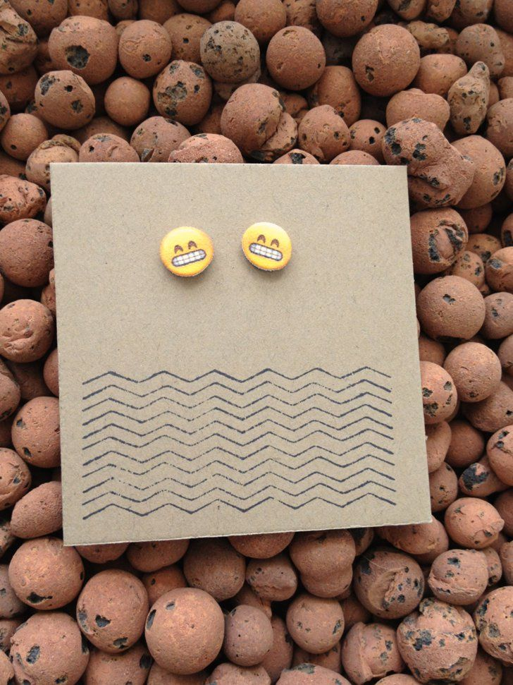 Pin for Later: The Ultimate Gift Guide For Emoji-Lovers  Gritting teeth emoji earrings ($22)