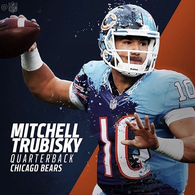 "120 Likes, 5 Comments - Chicago Bears Fanpage (@da_chicago_bears_34) on Instagram: ""Your @ChicagoBears 2017 NFL Draft 1st round pick, Mitchell Trubisky ⬇️  #ChicagoBears…"""