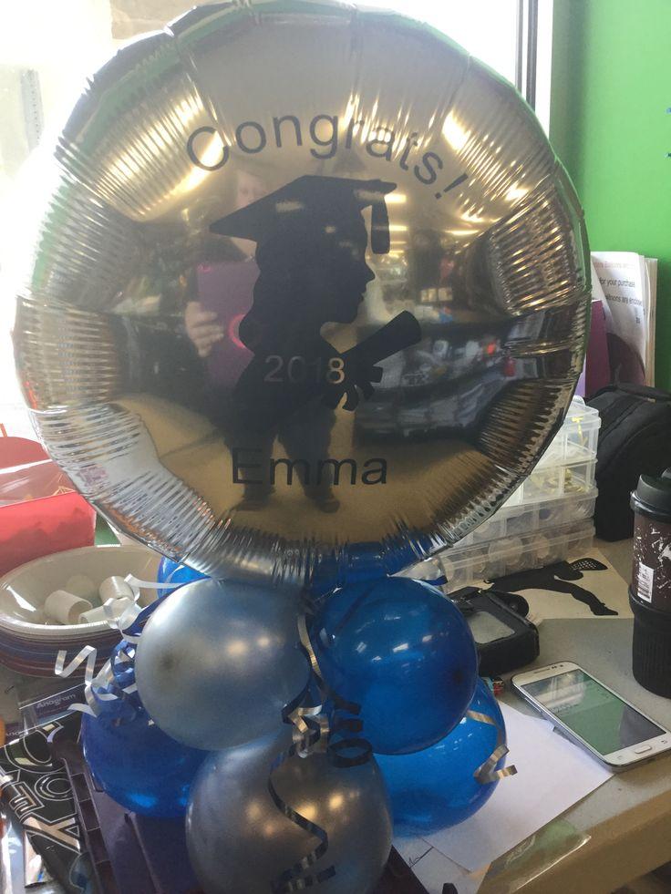 Graduation balloon, Personalized balloon, Balloon Centerpieces