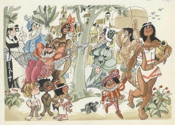 La Historia contada por Mingote:Colonizadores españoles en el Nuevo Mundo.