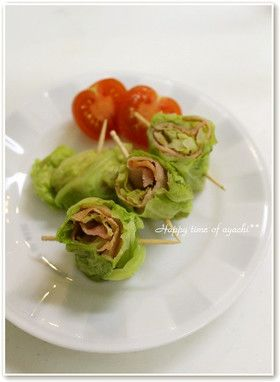 Bacon rolled in cabbage