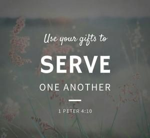 "The Bible says in 1 Peter 4:10, ""God has given each of you a gift from his great variety of spiritual gifts. Use them well to serve one another"" (NLT, second edition). When you use your abilities to help each other, God is glorified. God wired you to make a contribution. God did not give you your talents and abilities for your benefit. They are for the benefit of other people, and their talents are for the benefit of you. by nina"