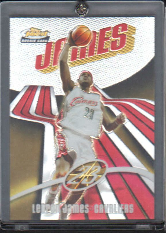 2003/04 Topps Finest Lebron James Rookie Card #'d 703/999
