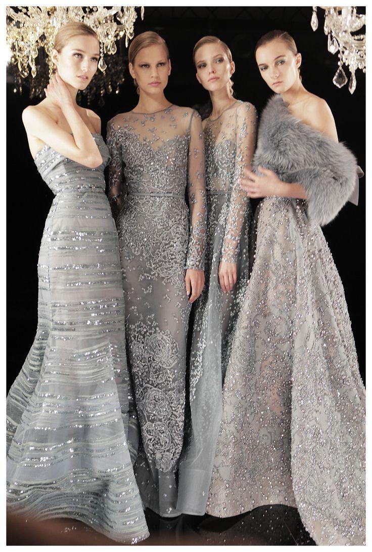 Silver bridesmaid dresses for a fall wedding? Elie Saab