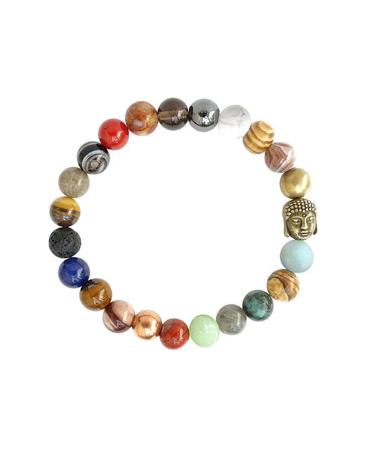 """Good Vibes Bracelet – April Soderstrom   $38   Gemstones and metals are filled with stories of healing properties, symbolic meaning, and folklore.  We've put together a stunning bracelet combining some of our favorites to hopefully bring some """"Good Vibes"""" into your world.  Each bracelet comes with a Stone Card noting the meaning and folklore behind each gem.  Spread the love and gift to a friend, family member, or anyone in need of a boost from Mother Earth."""