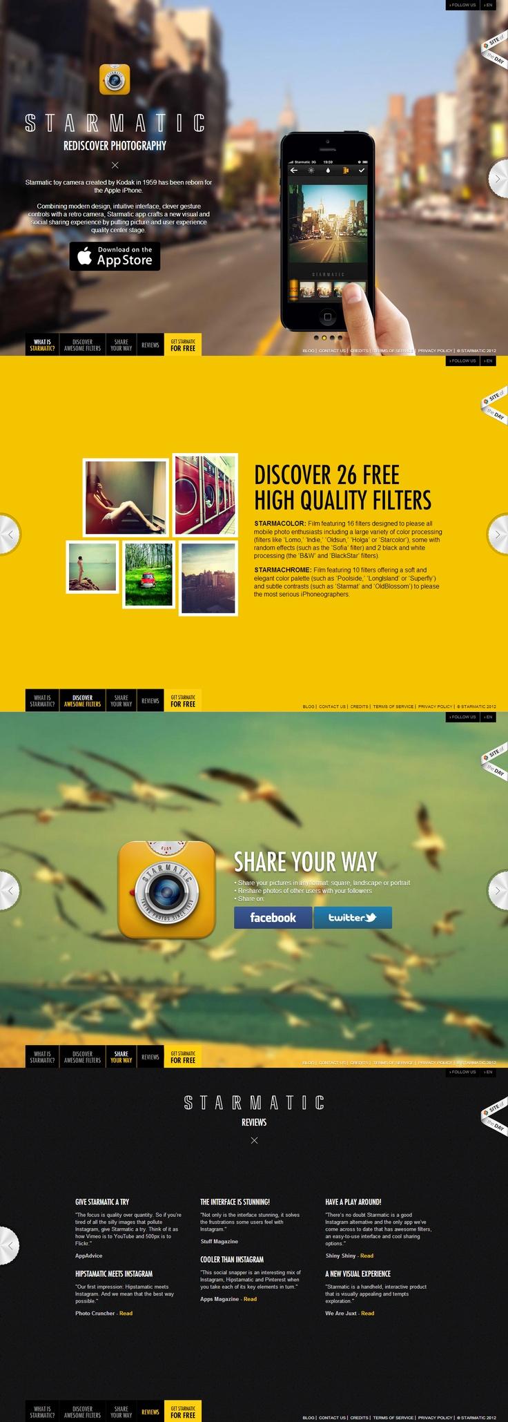 Unique Web Design, Starmatic @designcandy #WebDesign #Design (http://www.pinterest.com/aldenchong/)