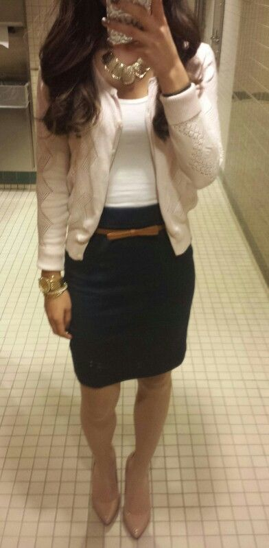 Business casual - LOVE the bow belt