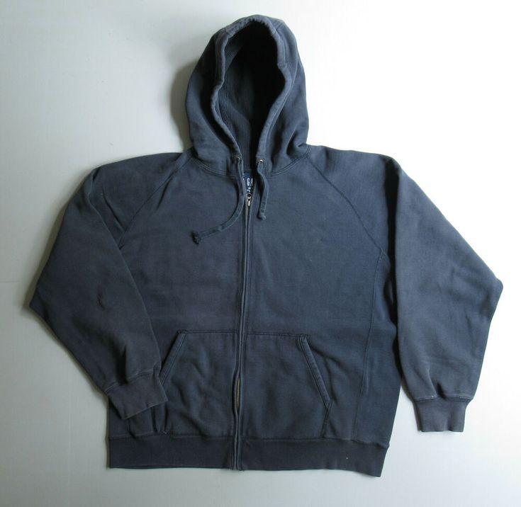 Mens Vintage Gap Sweatshirt Zip Hoodie Jacket Navy Blue Xxl Gap Hoodie Gapfashion 90s In 2020 Gap Sweatshirt Hoodie Jacket Zip Sweatshirt