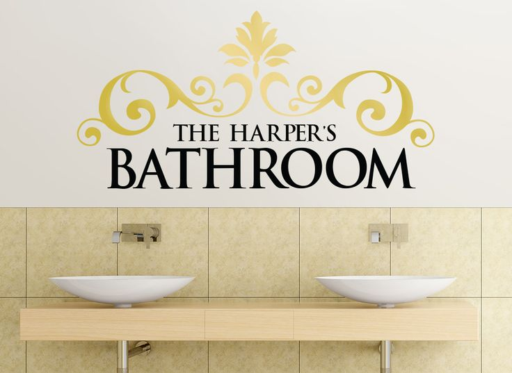 Classic Scroll Bathroom Wall Art Sticker Range Of Sizes To Suit Any Room U0026  Available In Part 98