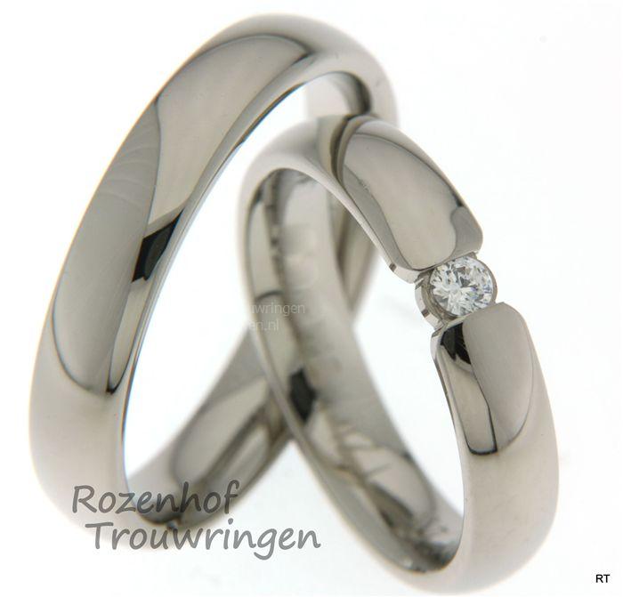 Klassieke, tijdloze trouwringen met diamanten